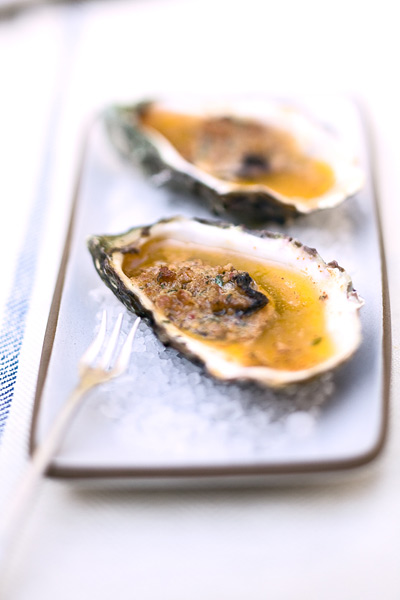 Oysters with Chorizo Sauce. Photo by Gwendolyn Meyer