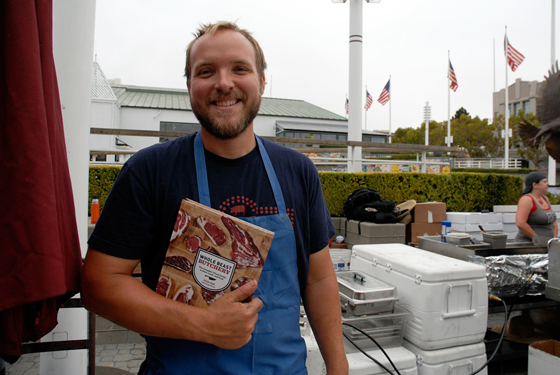 Ryan Farr with his new book Whole Beast Butchery. Photo: Wendy Goodfriend
