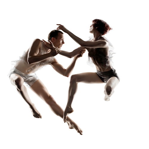In flight: Ryan T. Smith and Wendy Rein of RAWdance. Photo: R. J. Muna