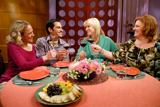 Check, Please! Bay Area Season 6 episode 12 guest and host on set at KQED