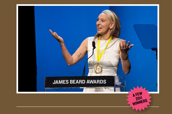 Gabrielle Hamilton winning James Beard Award