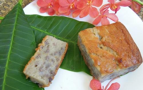 Taro Mochi Cake