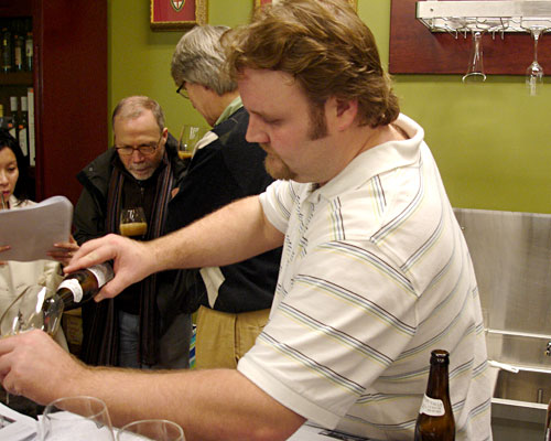 Eric Cripe leads beer tastings at The Jug Shop.