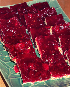 Cranberry-Tangerine Bars
