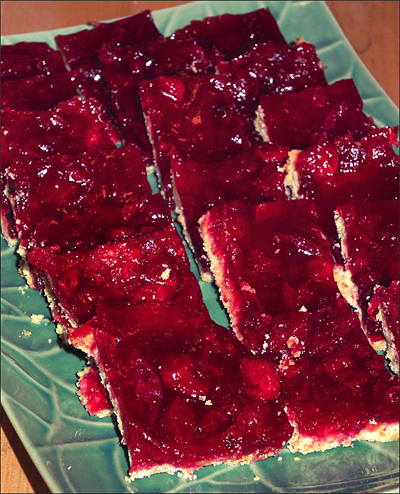 Cranberry-Tangerine Bars for the Holidays
