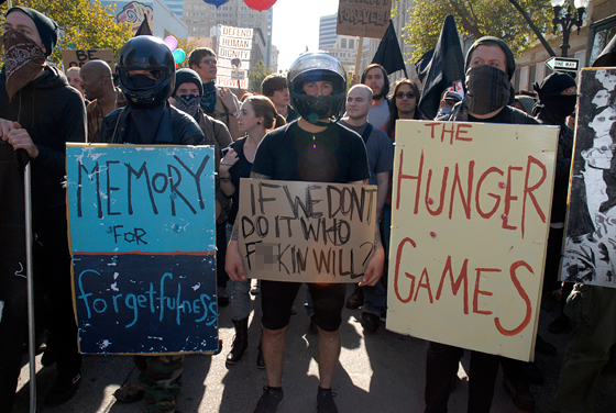 Anti-Capitalist march -- The Hunger Games