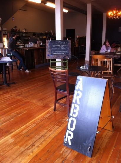 arbor cafe sign
