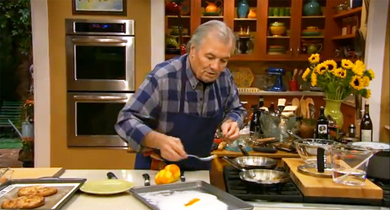 Jacques Pepin demonstrates how to make candied orange peels