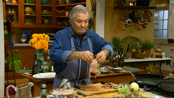Jacques Pepin demonstrates how to debone a quail.
