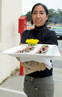 Monica Martinez of Don Bugito, which served up insects at a recent dinner in the Headlands. Photo: Courtesy of Don Bugito