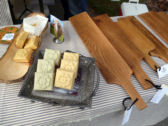 soap and cheeseboard