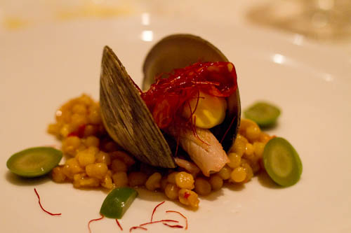 Fregula, Cherry Stone Clams, Calamari