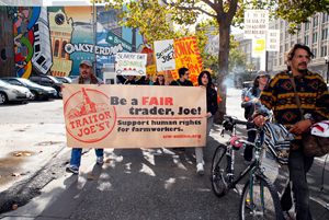 Oakland March Calls on Trader Joe's to Support Rights for Farmworkers. Photo: Wendy Goodfriend