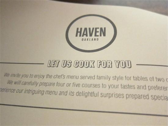 haven menu