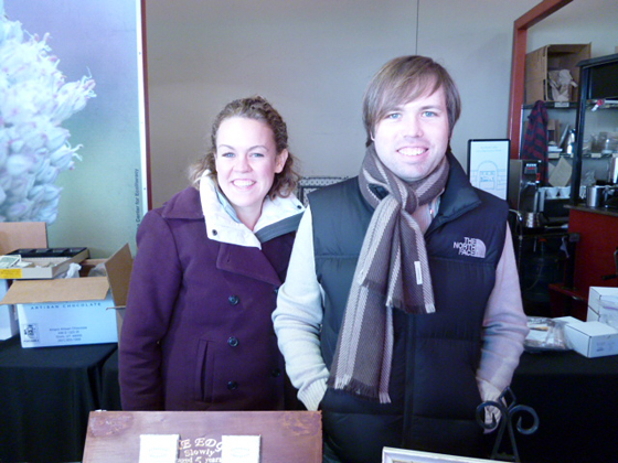 From left: Alice Nystrom, Todd Masonis of Dandelion Chocolate