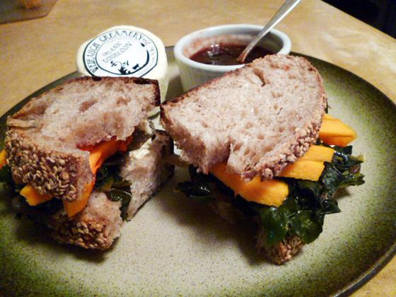 nice kale sandwich