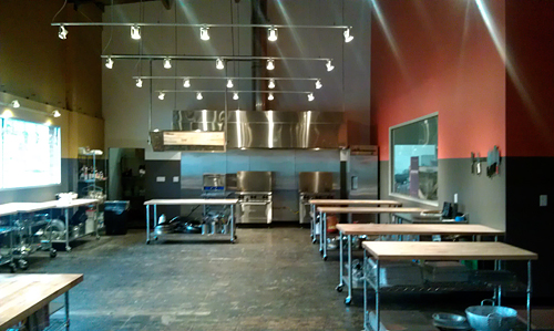 A sneak peek inside the new Kitchen on Fire culinary classroom.