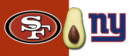 SF 49ers versus NY Giants - avocado advantage
