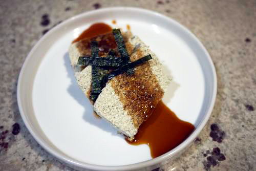 tofu with sauce