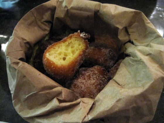 Liholiho Yacht Club: Malasadas, cinnamon sugar. Photo: Ella Lawrence