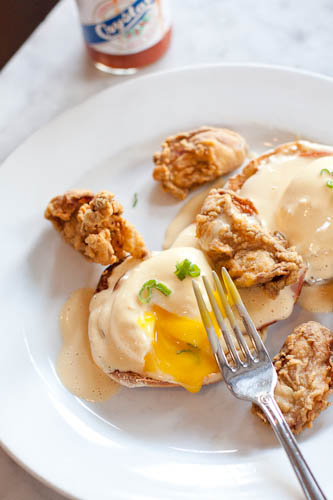 Fried Oyster Eggs Benedict (Stanley, New Orleans)