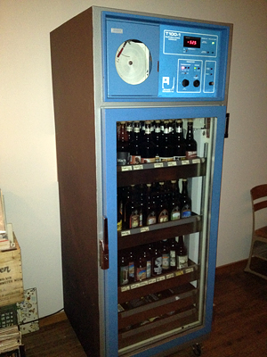 Bergamot Alley beer fridge. Photo: Ella Lawrence
