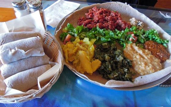 ethiopian dish - Cafe Colucci