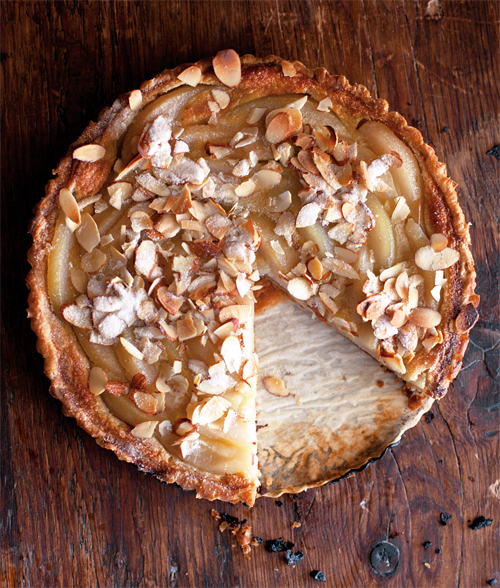 Pear-Custard Tart. Photo by Eric Wolfinger