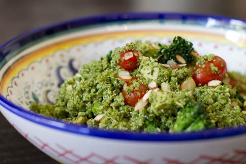 Kale Pesto Quinoa Salad