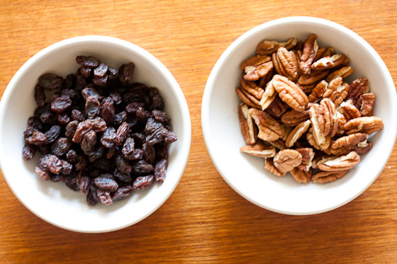 Raisins and Pecans