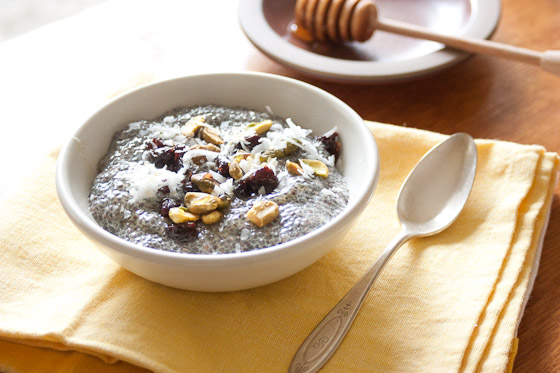 Super Food Dessert Recipe: Chia Seed Pudding with Cherries, Coconut, and Pistachios