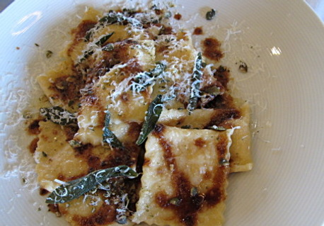 Agnolotti paired with Morning Fog Chardonnay