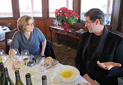Tasting Wente Chardonnays with Karl Wente