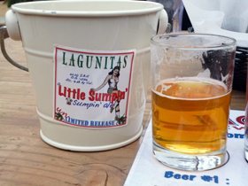 LAGUNITAS beer closeup