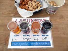 LAGUNITAS beer flight