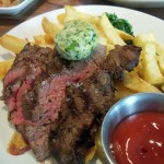 Grilled Bavette steak with Kennebec fries and Cafe de Paris butter
