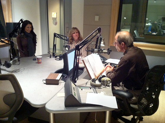 KQED Forum studio - Michael Krasny interviewing Chloe Coscarelli and Colleen Patrick-Goudreau