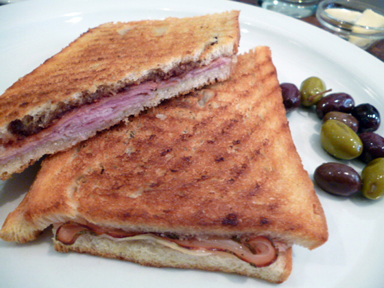 Italian toast - proscuitto and Gruyere