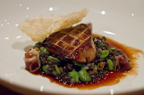 txoko foie gras dinner