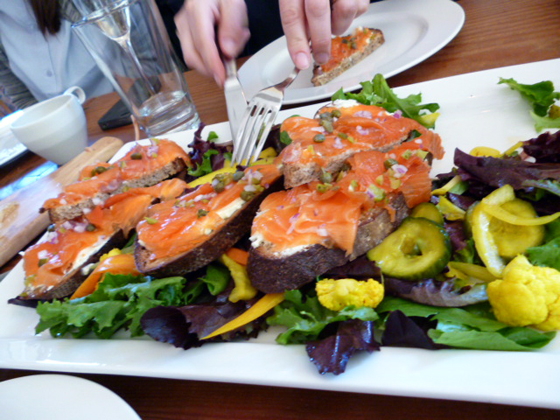 Gravlax at Heirloom Cafe brunch for Kinfolk magazine