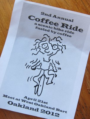 coffee ride flyer