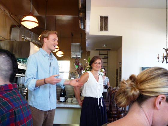 Nate Williams and Julie Pointer in Heirloom Cafe for Kinfolk brunch