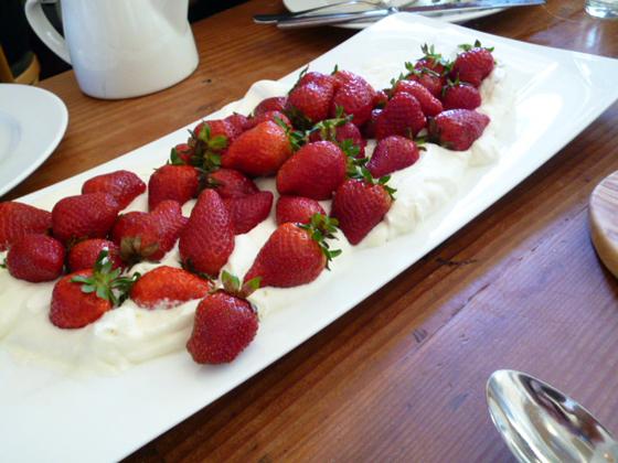 Swanton Berry Farm strawberries and cream