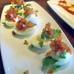 Deviled Eggs, Pico de Gallo and Bacon