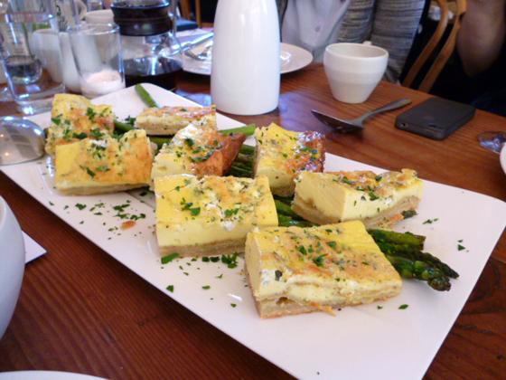 Quiche at Heirloom Cafe brunch for Kinfolk magazine