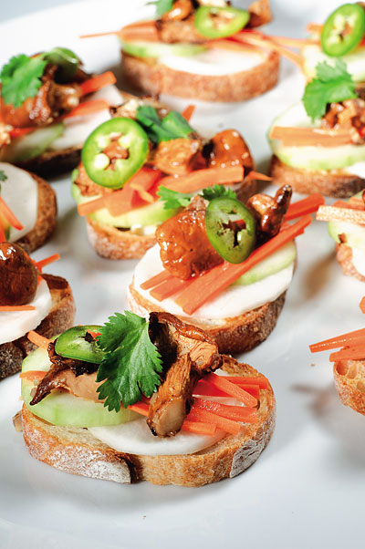 Chanterelle Banh Mi Bites. Photo: Michael Natkin