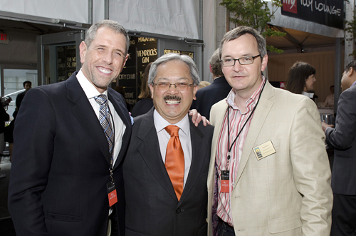 Andrew Freeman, Mayor Ed Lee and Rob Black. Photo: Marc Fiorito, courtesy of SF Chefs