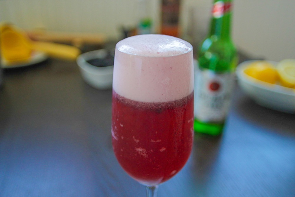 Liquid Pie: Bourbon and Berry Cocktail (Made with Beer)