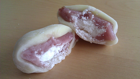 Mochicream Cranberry Cream Mochi With Layer of White Bean Filling
