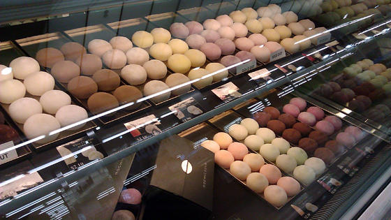 Mochicream Display Case of Various Mochi Flavors